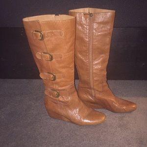 Franco Sarto Shoes - Franco Sarto leather wedge riding boots